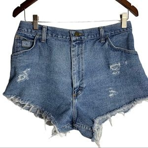 Vintage Wranglers For Women Upcycled Jean Shorts